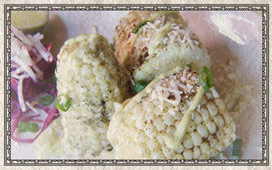 Grilled Mexican Corn @ El Camino Real