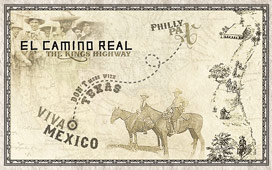 El Camino Real Vintage Location Map